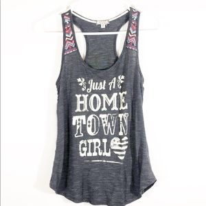 """EYESHADOW """"JUST A HOME TOWN GIRL"""" TANK - SZ XS"""